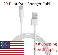 20x 3 Foot 8 Pin USB Charger Cord Data Sync Cable for iPhone 7, 6, 6S, 5, 5S
