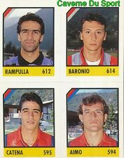 148 RAMPULLA - BARONIO - CATENA - AIMO CARD CARTA CALCIO QUIZ VALLARDI 1991