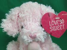 NEW FUZZY BABY DOG PINK PUPPY LOVE SO SWEET PLUSH STUFFED ANIMAL