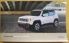 GENUINE JEEP RENEGADE HANDBOOK OWNERS MANUAL WALLET 2014-2017 PACK C-201