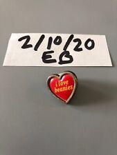 Vintage I Love Beanies Heart Pin