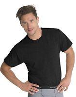 6 Hanes Men's Traditional Fit ComfortSoft TAGLESS Dyed Black Crewneck Undershirt