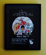 QUEEN-Rare Framed 1977 Promotional Concert Poster-FREDDIE MERCURY-BRIAN MAY