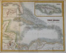WEST INDIES PUBLISHED BY BLACKIE AND SON, CIRCA 1860.