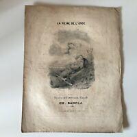 Partitura La Reina DE Wave Ferdinand Huard Charles Dancla Francia Musical Años