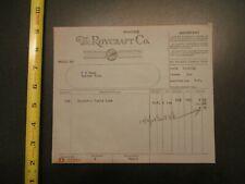 The Roycraft Company 1928 invoice Letterhead 527