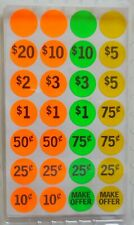 Garage Sale Labels 420 Ct Self Adhesive Paper Dots Cent Dollar Make Offer Blank