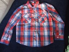 George smart  long sleeve collared checked shirt age 8 - 9 chest 34