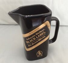 JOHNNIE WALKER BLACK LABEL SCOTCH WHISKY - VINTAGE CERAMIC WATER JUG