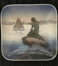 "Royal Copenhagen Square Mini Plate Little Mermaid Langelinie 4 1/8"""