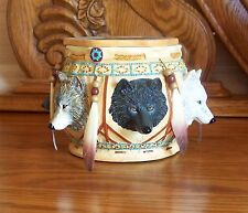 Sacred Keepsake Box Collection SPIRIT OF THE WOLF #1 Indian Native American COA
