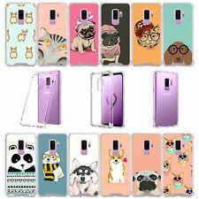 For Samsung Galaxy S9 Plus SM-G965 | S9 Plus Clear TPU Bumper Case - Cute Pets
