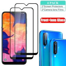 For Samsung Galaxy A20S A30 Full Tempered Glass Screen Protector+Lens Protector
