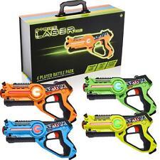 Infrared Laser Tag Gun & Case Kids Indoor Outdoor Game Battle Blaster 4 Set 8