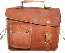 Men Messenger Laptop Briefcase Satchel Vintage Genuine New 100% Goat Leather