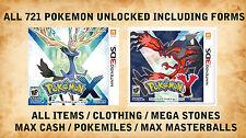 Pokemon x/y completar los 721 pokemon como hoopa VOLCANION AZ FLOETTE