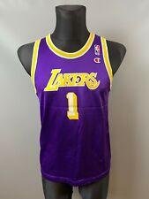 LAKERS LOS ANGELES NBA VINTAGE BASKETBALL SHIRT JERSEY CHAMPION BOYS SIZE XL