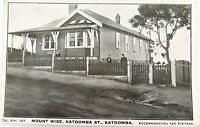 .KATOOMBA , MOUNT WISE BED & BREAKFAST HOUSE EARLY 1900'S POSTCARD.