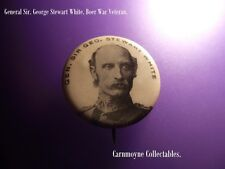 Vintage Sir .George Stewart White.Boer War Veteran Button Pin Badge. AH8466.
