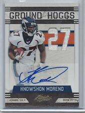 KNOWSHON MORENO 2011 ABSOLUTE GROUND HOGGS DUAL JERSEY AUTO #D 3/5