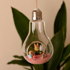 Stand/wall Hanging Light Bulb Glass Flower Vase Terrarium Landscape Bottle a