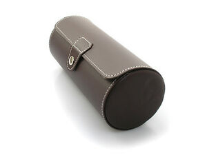 3 Watch Brown Leatherette Roll Travel Watch Case WC-3200DB