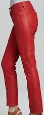 Not Your Daughters Jeans NYDJ Tummy Tuck Red Coated Skinny Jeans Size 4