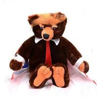 Toy Bear Donald Trump Bears Plush Toys President Trumpy Bear for Kids Cool Toy