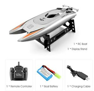 RC High Speed RACING Boat Double Pointed 25km/h 80 m Control Distance Double Mot