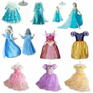 Kids Princess Dress Up Fancy Costume Dress Party Girls Cosplay Outfit Gifts