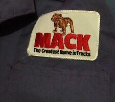 Vintage  MACK TRUCK WORK LAB Style Coat Uniform PATCH Blue 42 Large