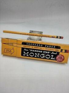 Vintage Eberhard Faber Mongol 482 Pencil Woodclinched USA New Unused No. F Firm