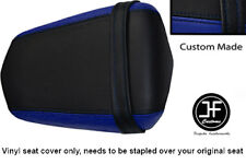 R BLUE AND BLACK VINYL CUSTOM FITS YAMAHA 600 YZF R6 REAR SEAT COVER ONLY 03-05