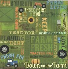 Karen Foster - Love My Tractor Collage Scrapbooking Paper - 65004 - Farm