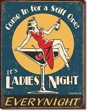 Schonberg Ladies Night Stiff One Retro Funny Humor Bar Wall Decor Metal Tin Sign