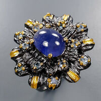 Blue Sapphire Ring Silver 925 Sterling Jewelry Handmade Size 6 /R135933