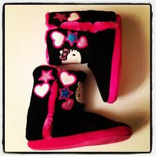 NWT HELLO KITTY by Sanrio Faux Fur SLIPPERS BOOTIES Toddler GIRLS Size XS 11/12