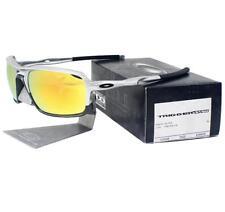 Oakley OO 9266-08 TRIGGERMAN Silver Frame Fire Iridium Lens Mens Sunglasses New