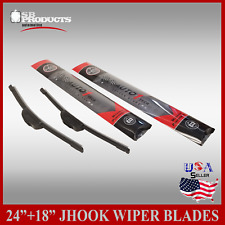 "ALL SEASON 24"" & 18"" PREMIUM JHOOK BRACKETLESS WINDSHIELD WIPER BLADES 2 PIECES"