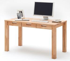 Schreibtisch Cento 1 Computertisch Büro Home Office Tisch Kernbuche Massiv geölt