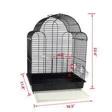 Medium Bird Cage Canary Finch Budgie Cockatiel Travel Cage Tray Feeders Handle