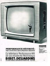 PUBLICITE ADVERTISING 014   1962   RIBET-DESJARDINS   téléviseur