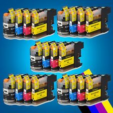20 Chipped Ink Cartridge for Brother LC123 MFC-J4610DW MFC-J4710DW MFC-J470DW 2