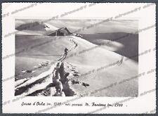TORINO SAUZE D'OULX 12 SALICE D'ULZIO NEVE Cartolina FOTOGRAFICA viaggiata 1951
