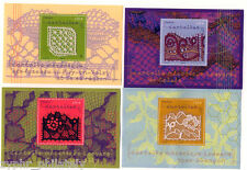 "France - ""TRADITIONAL LACE ~ STAMPS WITH REAL LACE"" Set of 4 MNH MS 2011 !"