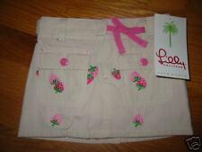 NWT Lilly Pulitzer Girl's Strawberry Skirt Skort 2T $64
