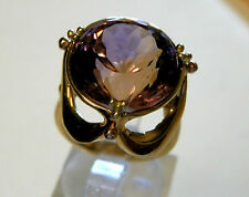 18 carat yellow gold handmade natural ametrine gemstone ring   15.6 carats