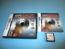 Safecracker (Nintendo DS) Lite DSi XL 3DS 2DS w/Case & Manual