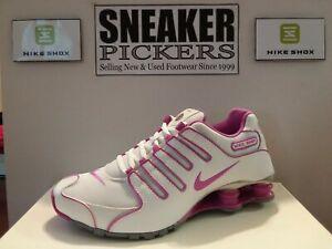 Nike Womens Shox NZ EU - 488312 104 - White / Club Pink - Silver - Size: 8.5