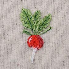 Turnip/Radish - Garden Vegetable - Iron On Patch Embroidered Applique